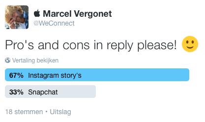 Twitter poll Instagram
