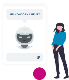 chatbot offers assistance in live chat