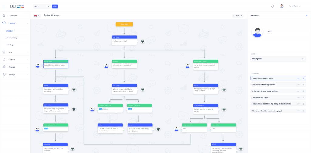 OBI Bots chatbot bouwen