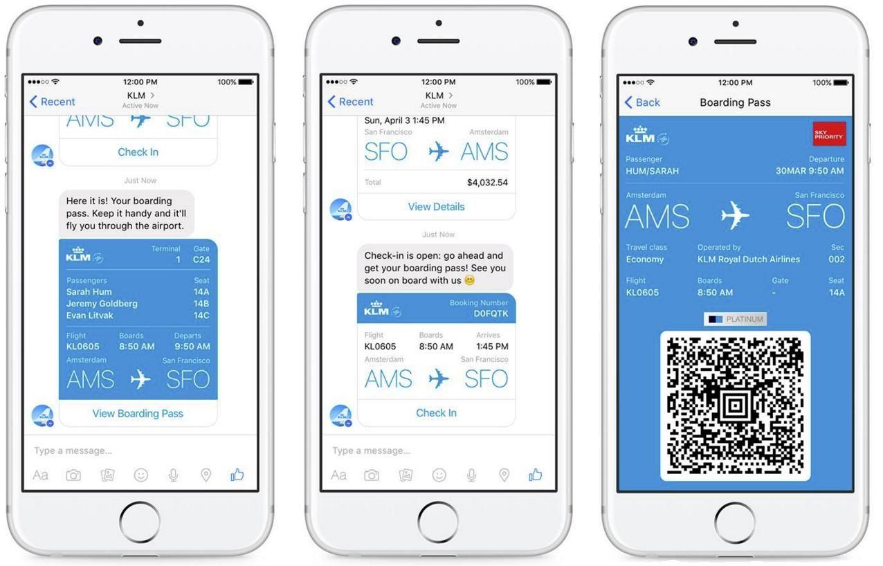 KLM messaging chatbot