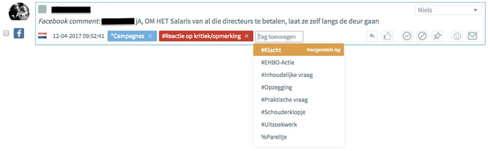 OBI4wan voorgestelde tags webcare