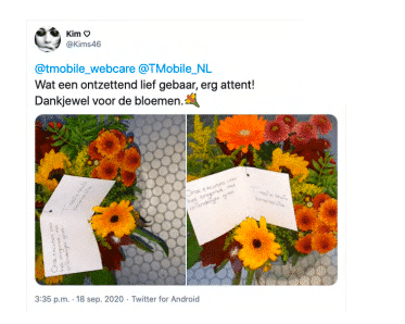 Stapje extra T-Mobile Twitter