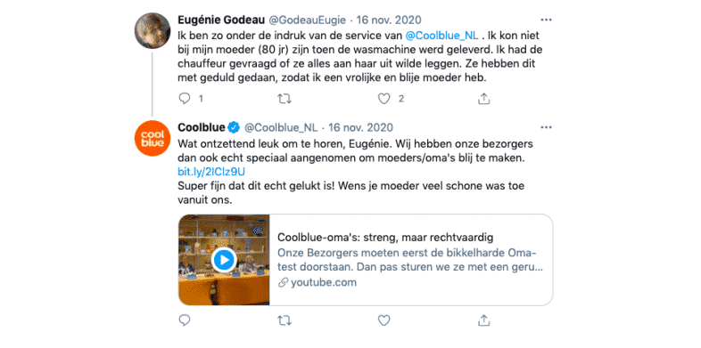 Coolblue Twitter