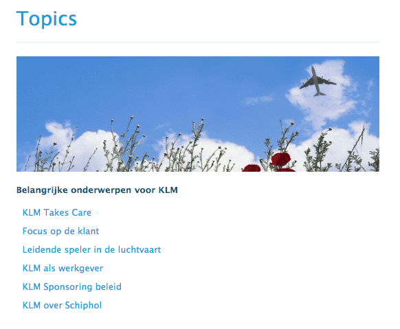 OBI4wan topics KLM